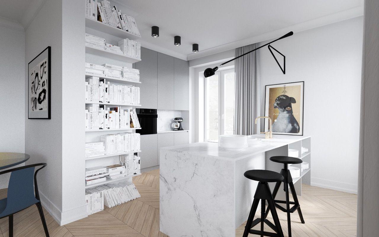 Mieszkanie W Kamienicy Kuchnia Z Wyspa Marmur Home Decor Home Furniture