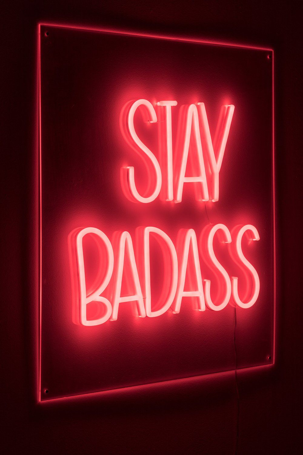 LED red neon sign | Bold Monkey Badass Non Social