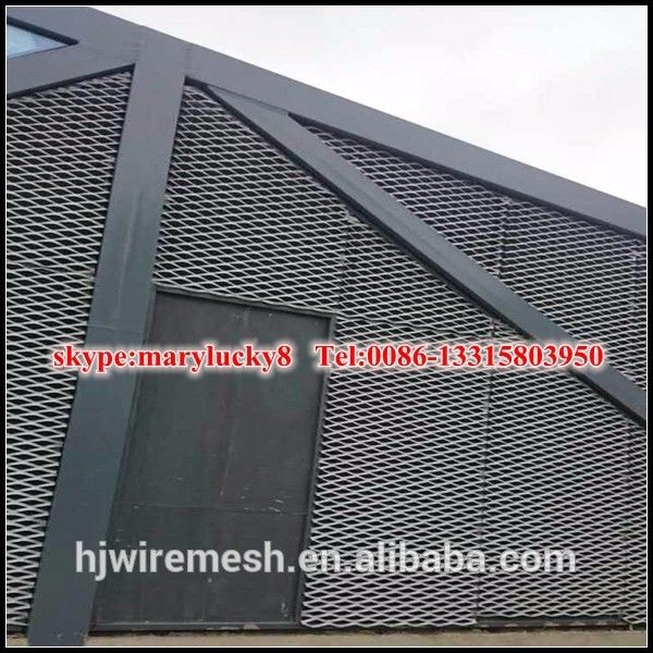 custom shape aluminum expanded metal mesh wall panels