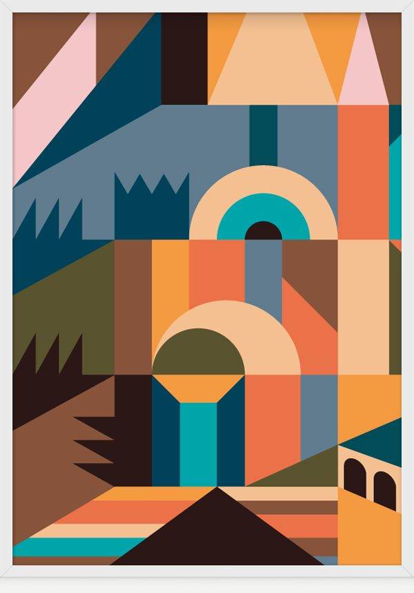 Temple Garden By Christopher Gray Illustration Art Geometric Inspiration