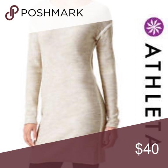 2ebd587c19b Athleta Retreat Sweater Dress - Medium Cotton Polyester Marled sweater knit  Lightweight