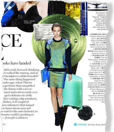Beauty Trend: Space Age. Clipped from Marie Claire using Netpage.