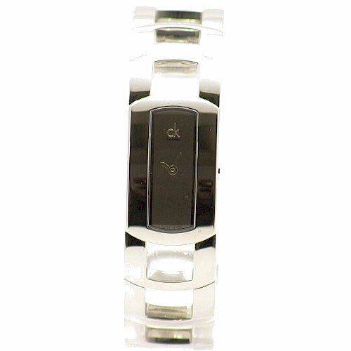 Calvin Klein Women's K3Y2M118 Silver Cuff Bracelet Analog Watch