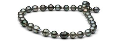 18-inch AA+ 9.5-10.9 mm Baroque Tahitian Pearl Necklace from Pearl Paradise