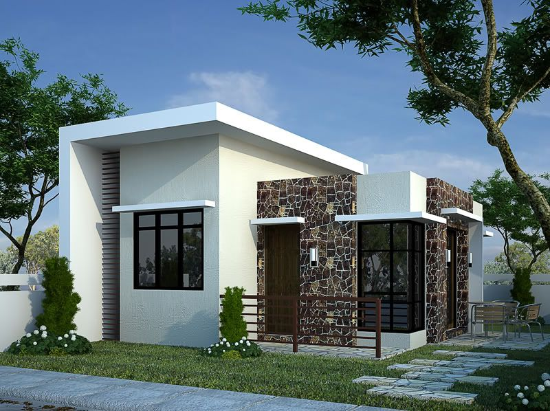 Top modern bungalow design bungalow modern and house for Minimalist home designs philippines