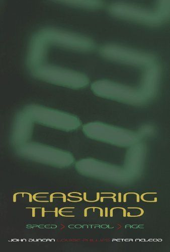 Measuring The Mind Speed Control And Age Edited By John Duncan