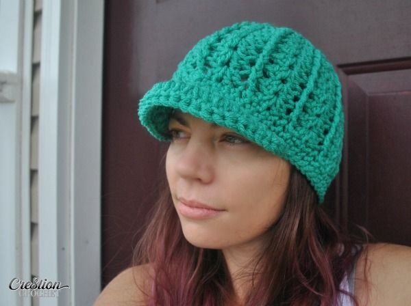 Free Crochet Newsboy Hat Pattern with Optional Brim- Mary\'s Newsboy ...