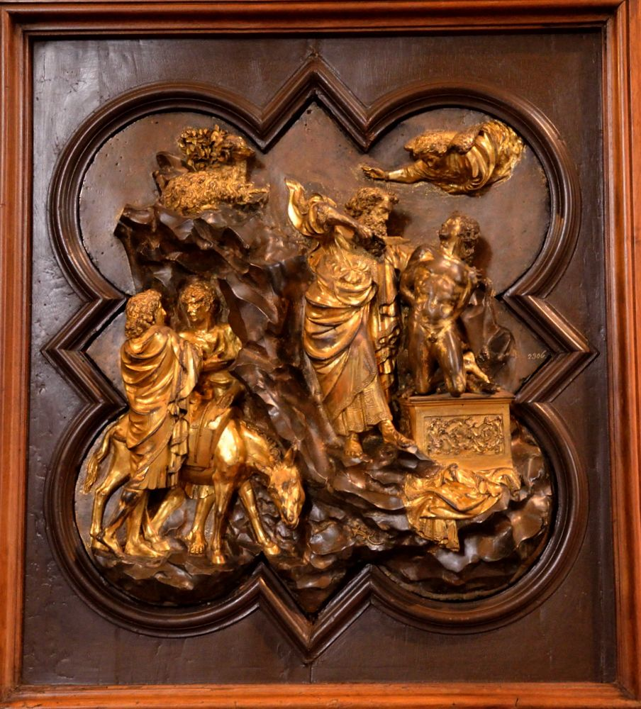 Filippo Brunelleschi / \ Sacrifice of Isaac\  competition panel for east doors baptistery : brunelleschi doors - pezcame.com