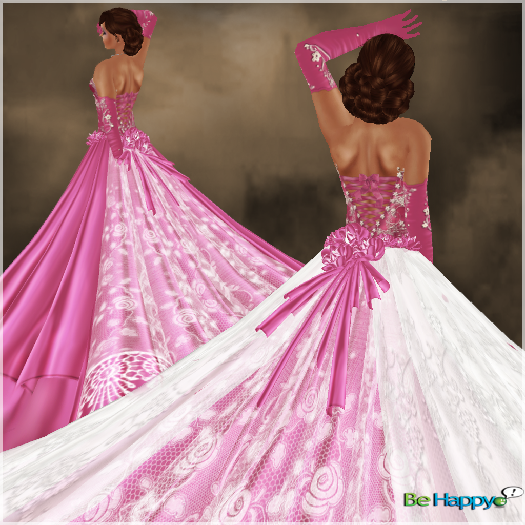 BH ~ Princess lover ~ Pink/White~Formal- Bridal- Gown- Wedding ...