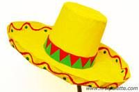 Step 10e Papier Mache Sombrero Hat craft