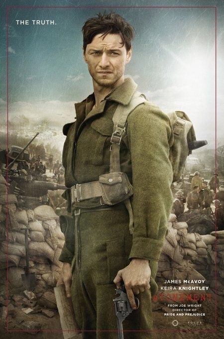 'The Truth' poster for Atonement featuring James McAvoy ...