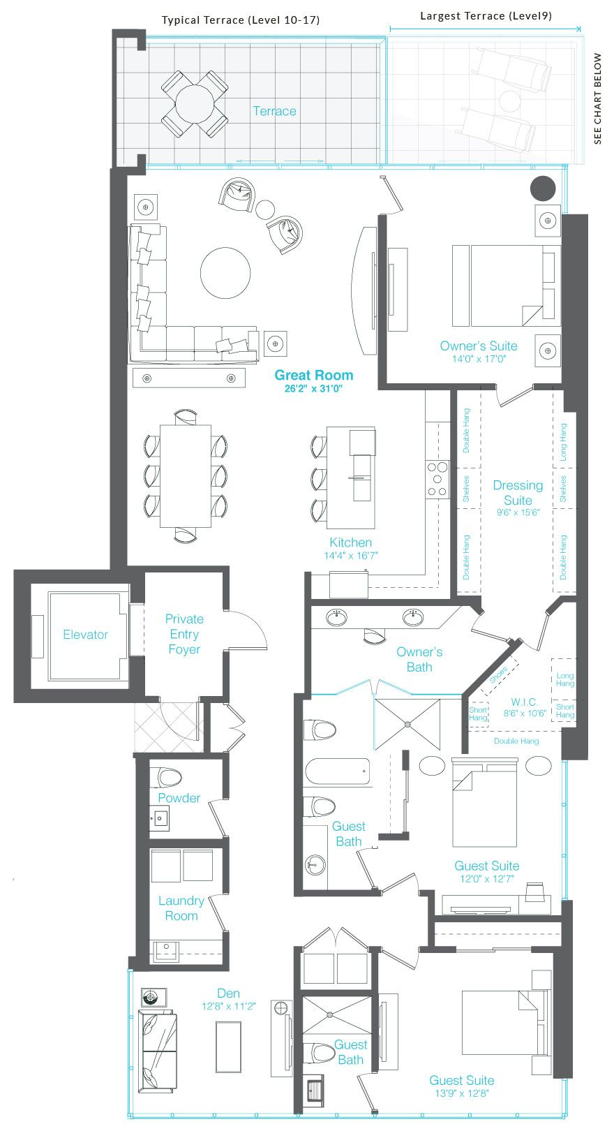 vue sarasota bay residence floor plan a features 3