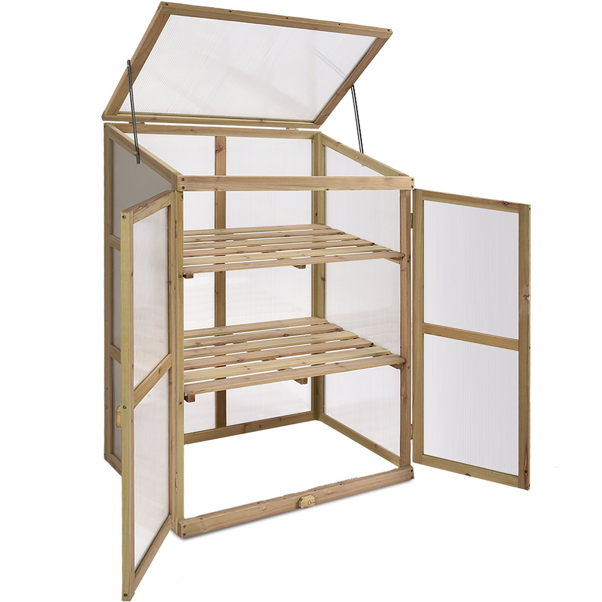 Costway 30 x 225 x 43 2tier wooden cold frame