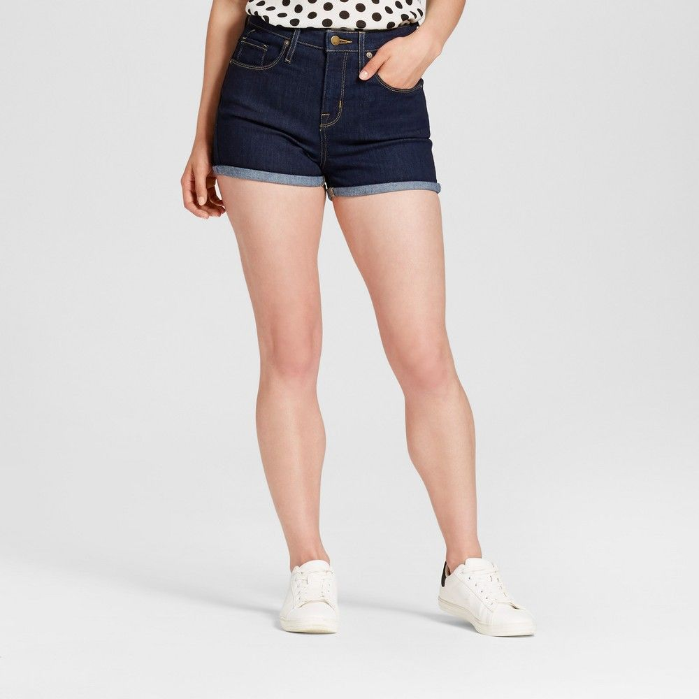 ed376054 Women's Jean Highest Rise Shorts - Mossimo Dixie 18, Blue | Products ...