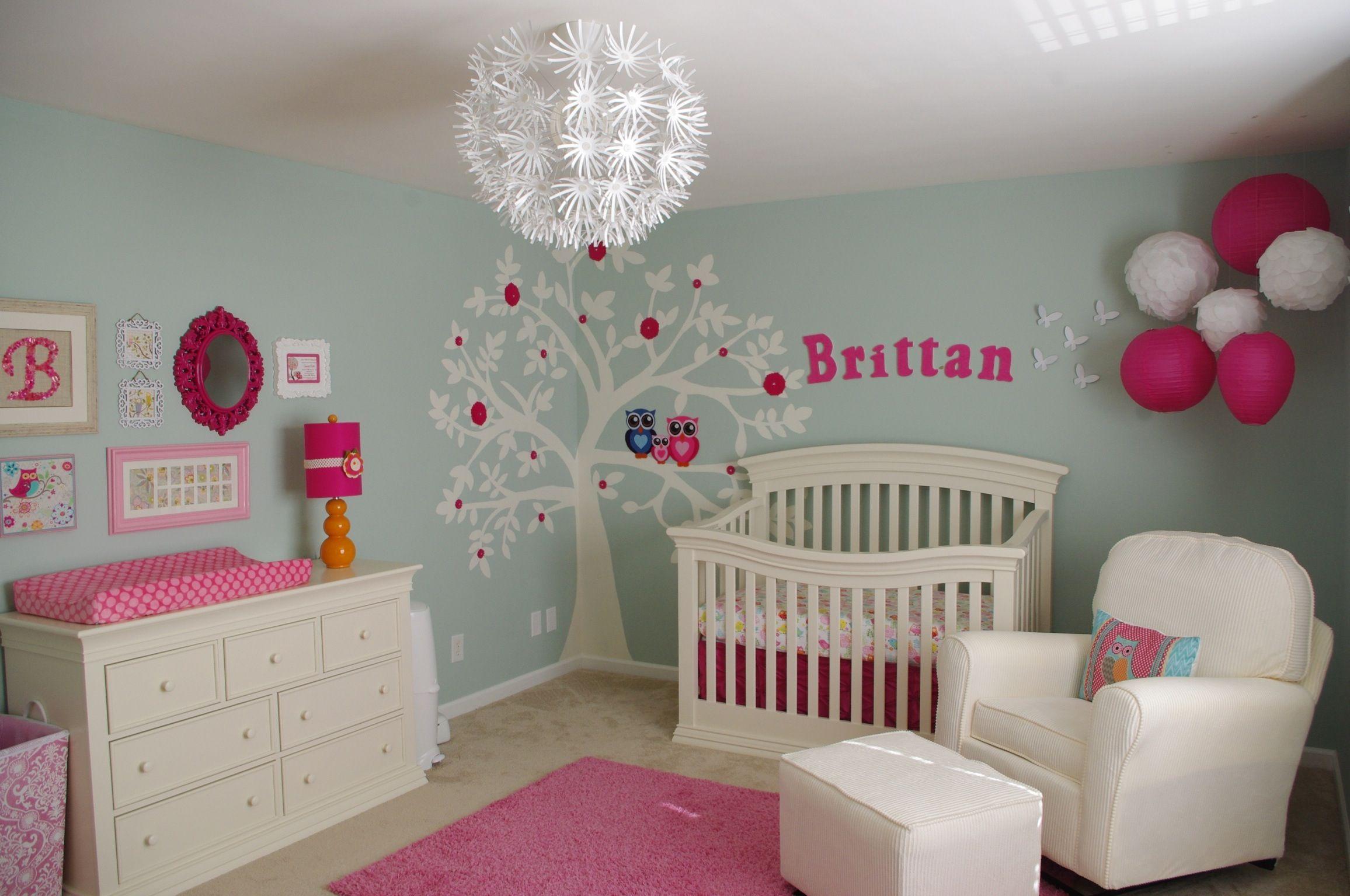 Girl Nursery Paint Ideas Of Choose Baby Girl Nursery