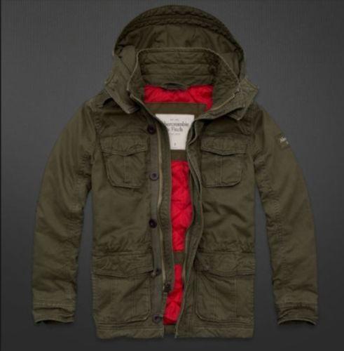 Abercrombie & Fitch Hollister Men's Jacket Parka Adams