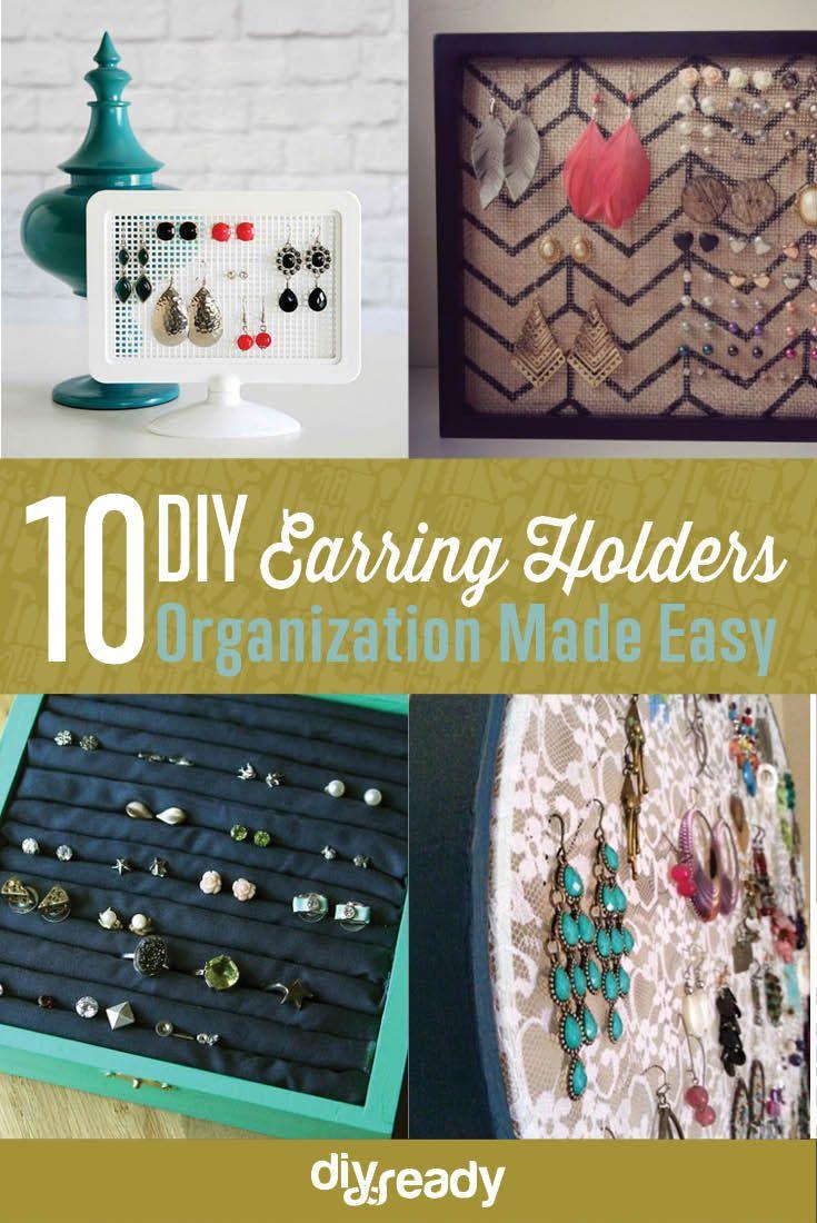 10 diy earring holder ideas diy earring holder diy earrings and 10 diy earring holder ideas solutioingenieria Choice Image
