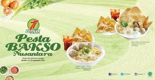 Harga Es Teler 77 2021 . Es Teler 77 Promo Pesta Bakso Nusantara September 2016 ...
