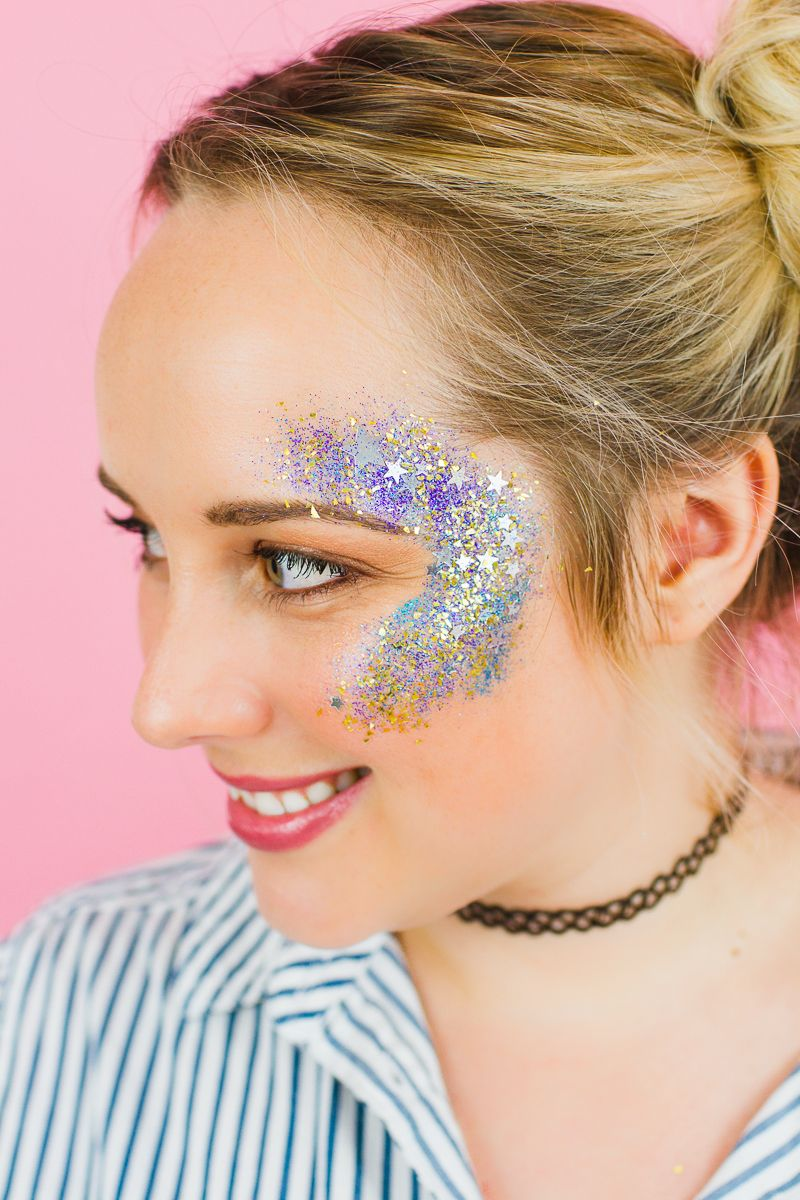 Sparkle shine glitter hair and makeup feathers shimmer - Diy Glitter Station Wedding Make Your Own Sparkle Station Glitter Face Makeup Festival_ 2