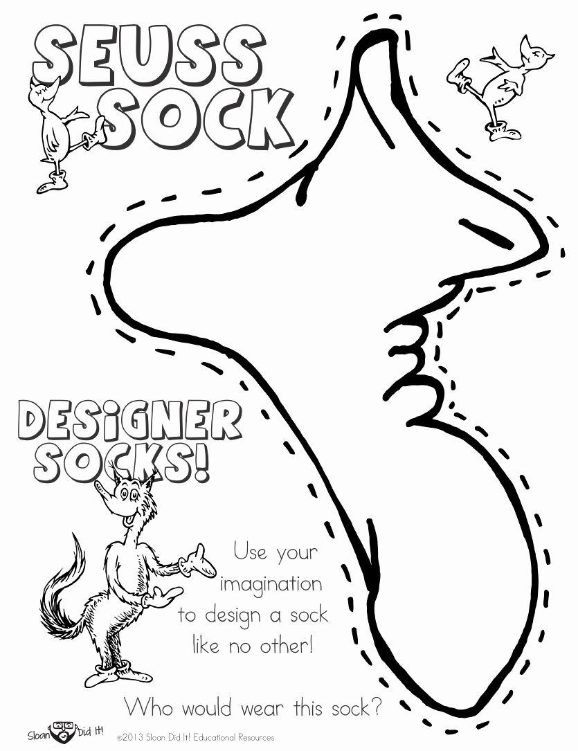 Dr.seuss Coloring Pages Printable Elegant Dr Seuss Fox In socks