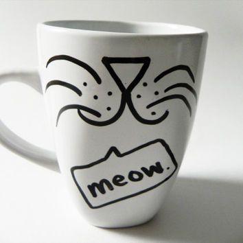 Sharpie Mug Animal Face Ideas Google Search Gift Ideas - Diy creative painted mug