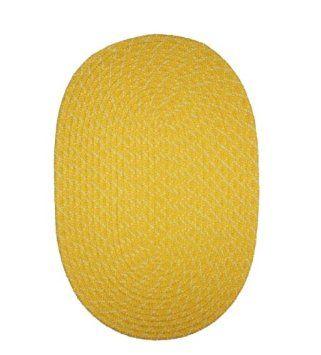 Amazon.com - ITM Sun Splash Indoor/Outdoor Braided Rug, Yellow, 1-Feet 8-Inch by 2-Feet 6-Inch