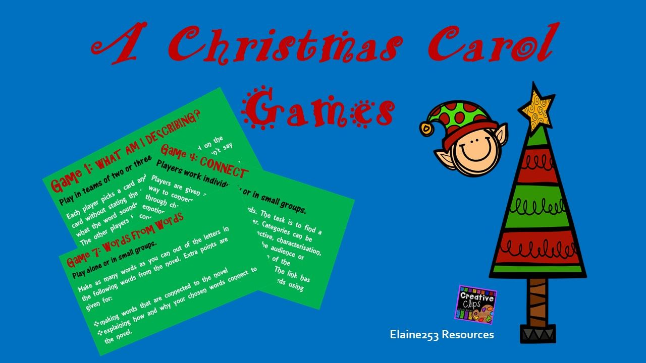 A Christmas Carol Games (With images) | Christmas carol, Language and literature, Carole