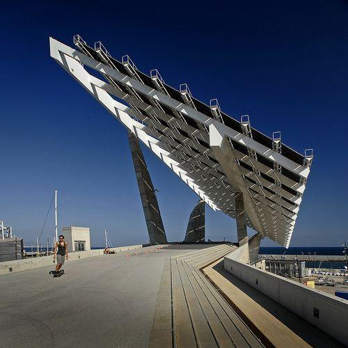 Spain Barcelona Solar Array Sq Solar Solar Power House Barcelona