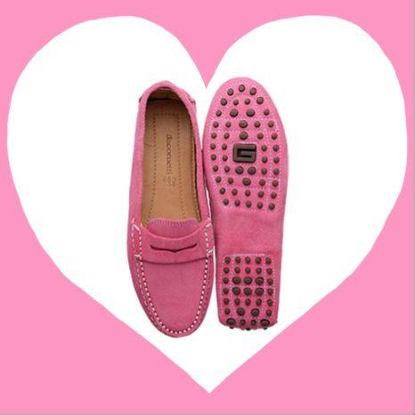 4c0bf1c9e1 Suede Pink - Mocassim Feminino Jacometti www.jacometti.ind.br ...