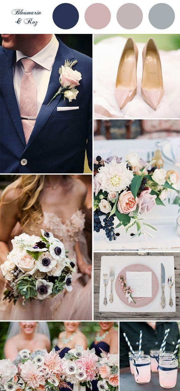 nunta #bleumarin #roz Navy Blush Pinterest Boda, Decoracion