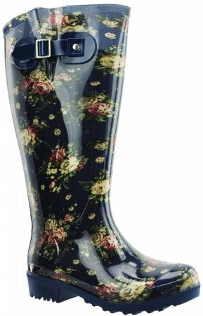 e9b904c35c9f extra wide calf wellies with a flower and jeans pattern Festival Boots, Wellies  Rain Boots