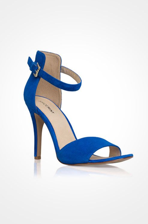 A cobalt heel from Shoe Mint is a fabulous option for a spring wedding shoe.