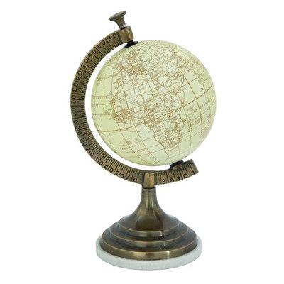 Cole Grey Aluminum Marble Pvc Globe Size 16 H X 9 W X 7 D