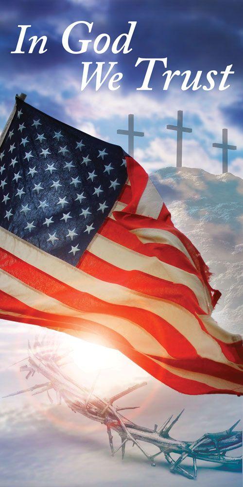 Church Banner - Patriotic - In God We Trust