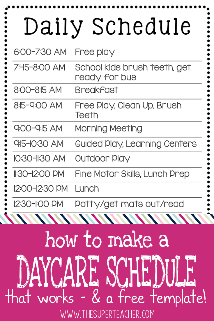 How To Make A Daycare Schedule That Works