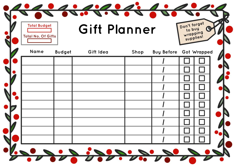 Free Christmas Printable T Planner