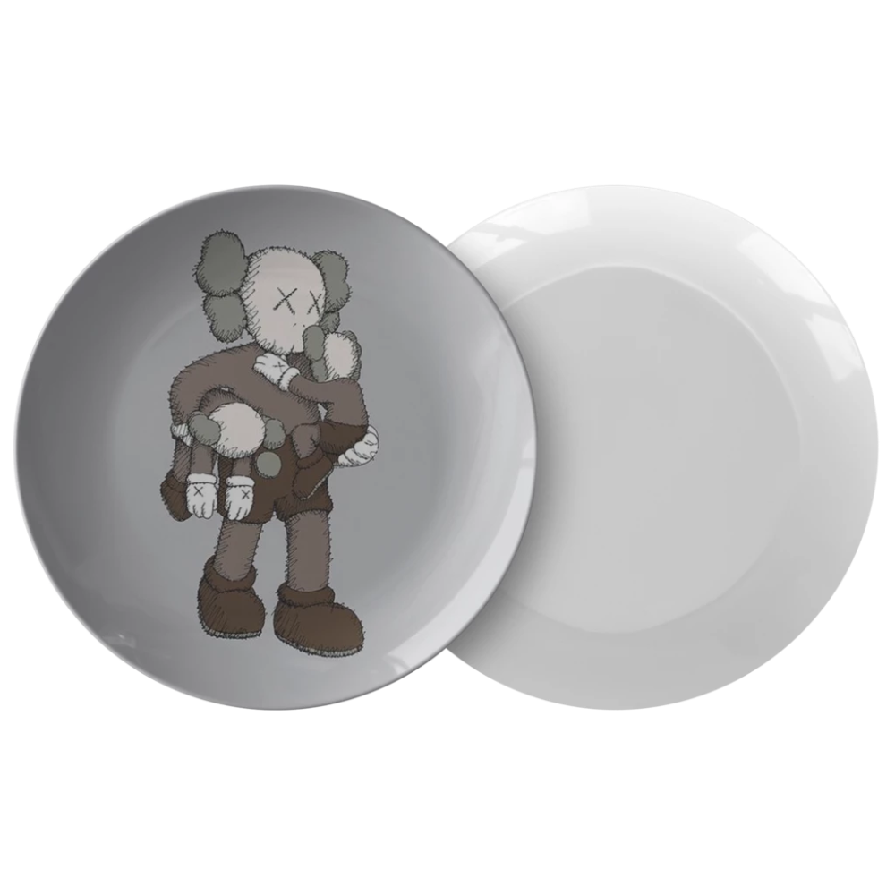 Kaws Dining Plate Homeless Penthouse Dining Plates Balloon Dog Sculpture Plates