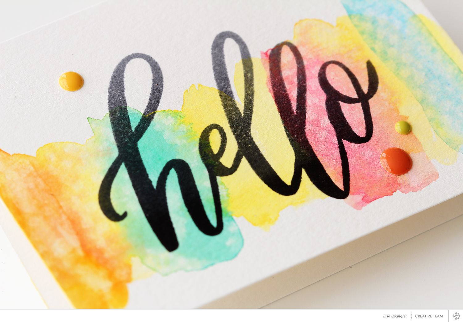 Tutorial: Using the Hello Stamp Set with Lisa Spangler at @studio_calico