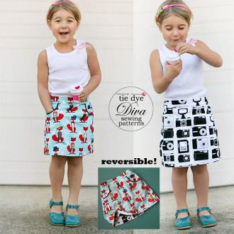 The Potato Chip Skirt Pattern | YouCanMakeThis.com | Sewing Pattern