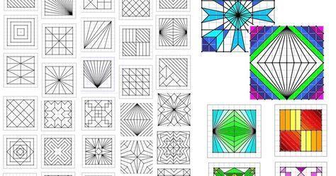 Reproduction de figures géométriques | Géométrie, Quadrillage, Jeux mathématiques ce2