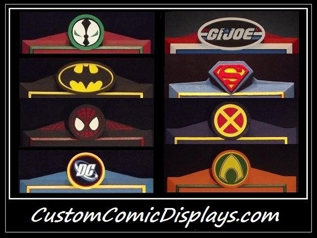 "The CUSTOM COMIC DISPLAYS ""Premier Series"" Comic Book Display Frames- For Raw/ungraded comic books, CGC/PGX comics, TPBs, Graphic Novels, Etc...Custom frames to fit whatever your needs! YOU name it, I CAN make it!"