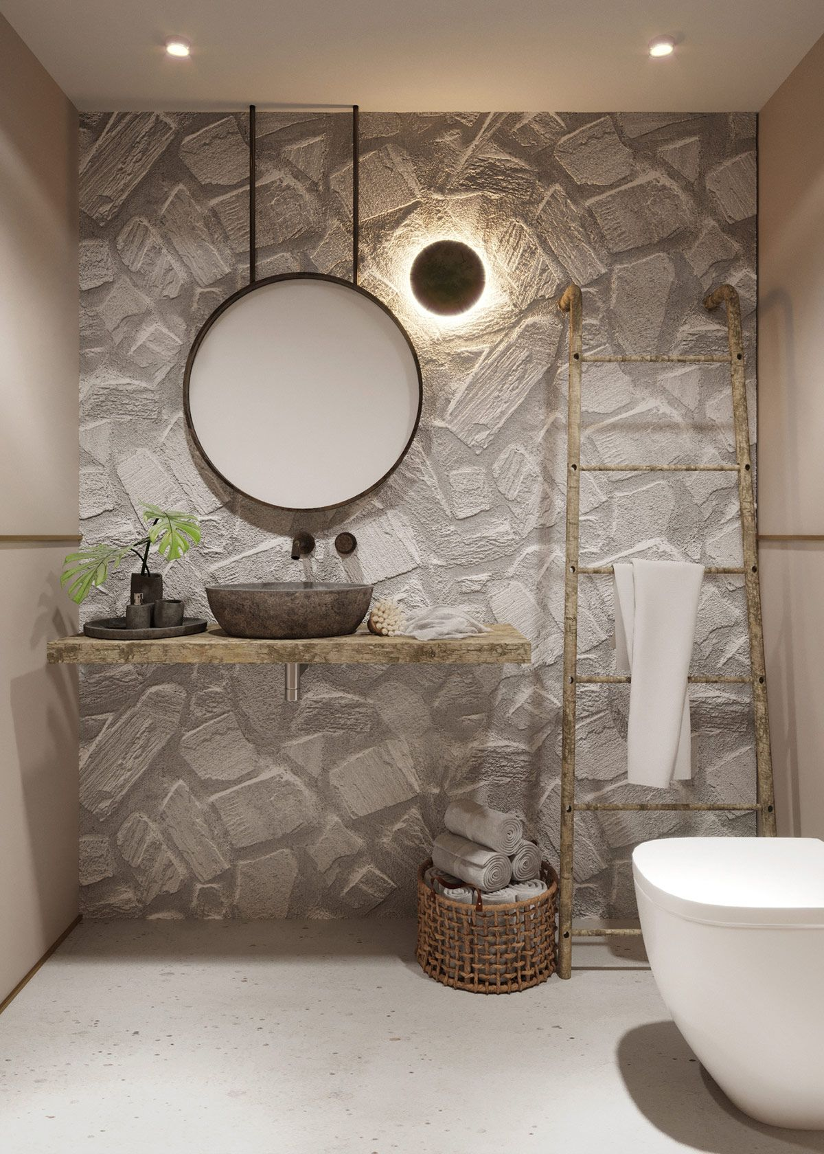 Three interiors with an ethnic rustic mix