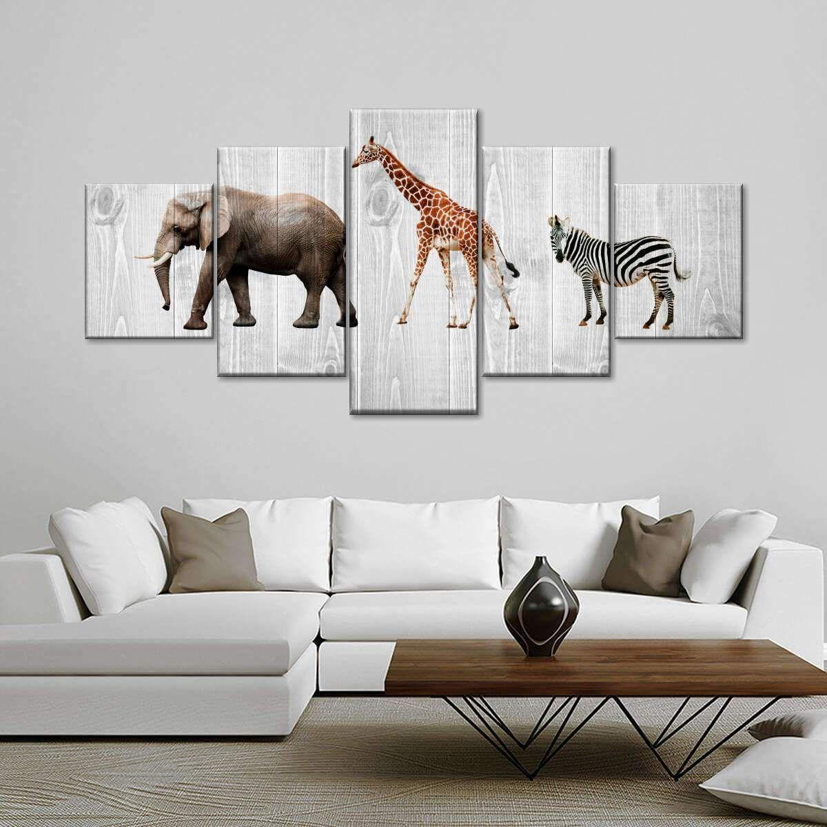 Wooden Safari Wall Art In 2021 Safari Wall Art Animal Wall Art Canvas Wall Art