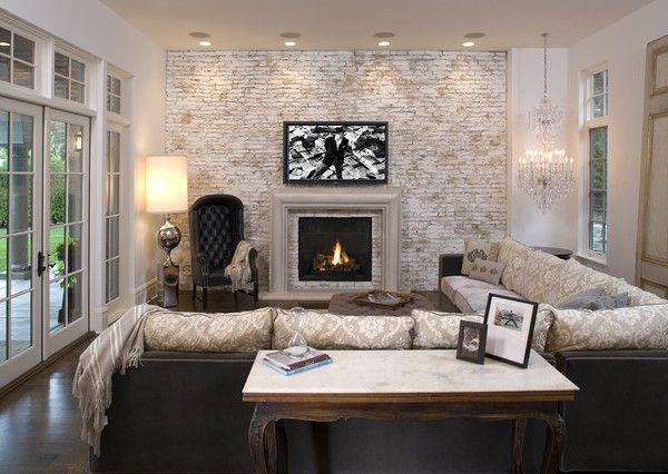 schicke-Wohnzimmer-einrichten-wohnstil-hocker-zweisofa Interieur