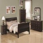 $1331.00  Coaster Furniture - Louis Philippe 4 Piece Queen Scrolled Sleigh Bedroom Set - 201981Q-4SET