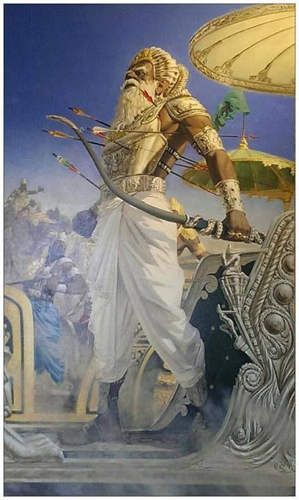 Mahamahim Bhishma Is Hurted Indian Legends Hindu Art Hindu Deities