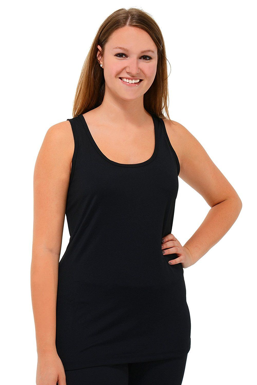 Plus Size 90 Degree by Reflex Scoopneck Racerback Yoga Tank, Black