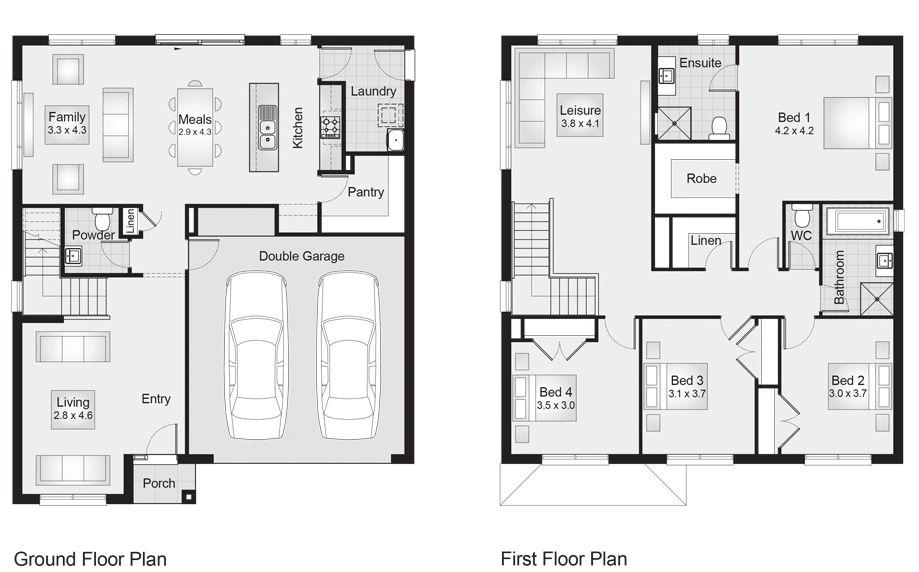 Glenelg 27 Floor Plan 253.70m2, 10.80m width, 12.60m