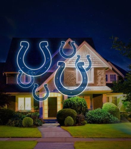NFL House Home LED Pride Projector Projection Light Indoor Outdoor Indianapolis Colts