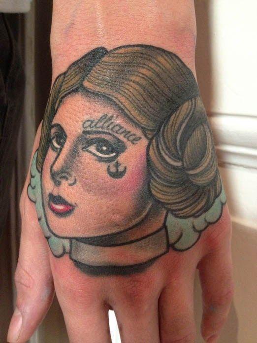 Star Wars Tattoo by Annie Frenze. #inked #inkedmag #tattoo #ink #hand #starwars #idea